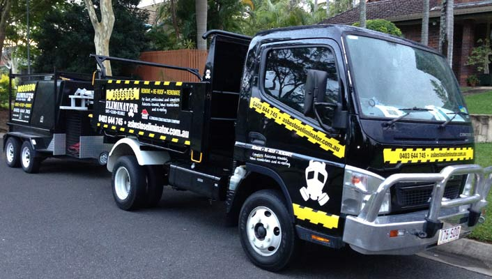Our new asbestos truck ready for action!